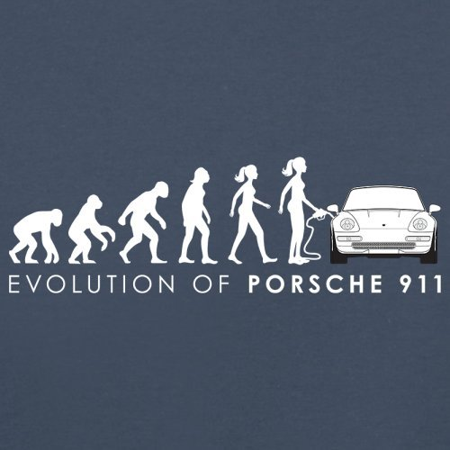 Evolution of Woman - 911 Fahrer - Herren T-Shirt - 13 Farben Navy