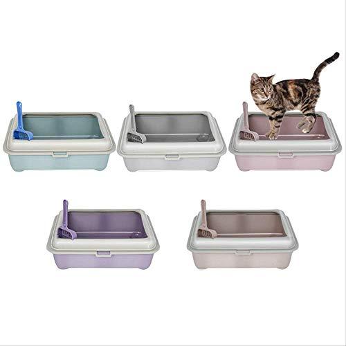 MYQG Lettiera per Gatti Pet Cat Litter Box Semi-Chiuso Small Toilet Litter Cucciolo Pot Mascotas Coniglio Potty Scoop Free Litter Box Cat Toilet Kit di Formazione 38x30x12,5 cm Bruno