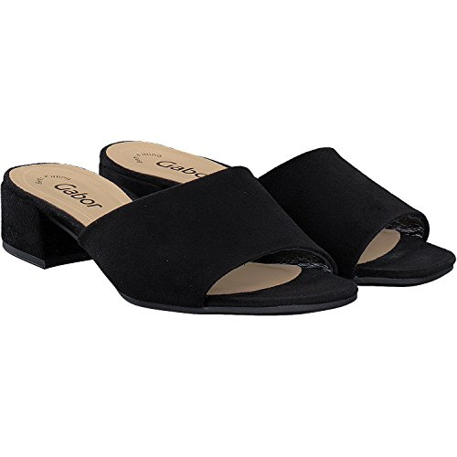 Gabor Shoes Gabor Fashion, Mules para Mujer, Negro (Schwarz), 39 EU