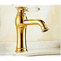 Messingwaschbecken Waschbecken Handwaschbecken Messing Lavabo golden 41,5 cm