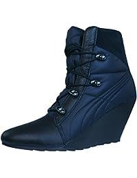Puma Karmin Bellows Wedge Botas para mujer - Zapatos - Negro