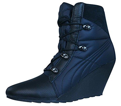 Preisvergleich Produktbild Puma Karmin Bellows Wedge Damen Stiefel - Schuhe - Schwarz-BLACK-38.5