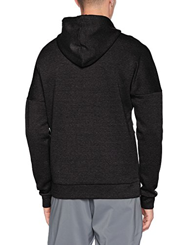 Adidas Herren Kapuzenpullover, Black/Black Melange
