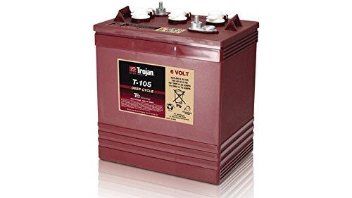 BATERÍA CÍCLICA TROJAN T105 6V. 225AH. ACUMULADOR CÍCLICO Voltios : 6 Amperios (Ah) : 225 (20 horas) Amperios (Ah) : 180 (5 horas) Amperios (Ah) : 250 (100 horas) Tecnología: Plomo abierto con mantenimiento Medida(mm) : 264x181x276 Garantía (Meses) :...