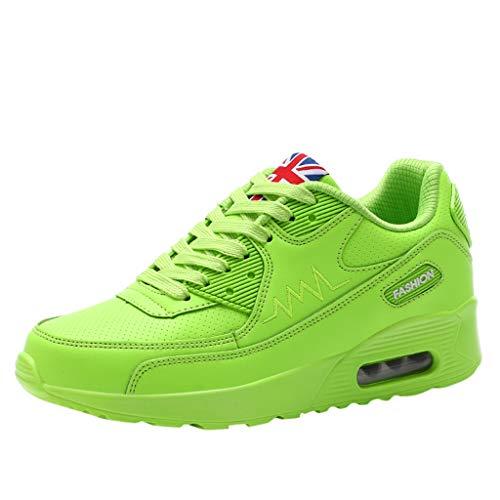 (LILIGOD Damen Plattform Schuhe Erhöhen Sneakers Shoes Verstärken Plateau Sport Freizeit andals atmungsaktive Turnschuhe Hohe Lace Up Wedges Swinging Slippers Sommer Running Fitness Shoes)