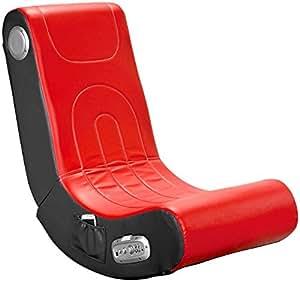 Mod-It Sessel mit Lautsprecher: Soundsessel mit 2.1-System für Gaming und Musik (rot) (Sitz mit Lautsprecher)