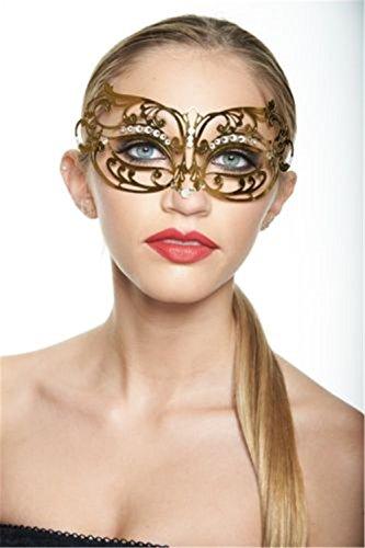 ParttYMask Maskerade,Halloween Make-Up Ballkleid Prinzessin Maske Halbes Gesicht Metall Venedig...