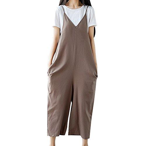 b6dfb8632b55 Galleria fotografica Pantaloni Donna Larghi Topgrowth Cinghia Sciolto Tute  Donna Eleganti Vocazione Casual Pantaloni Pagliaccetti Taglie