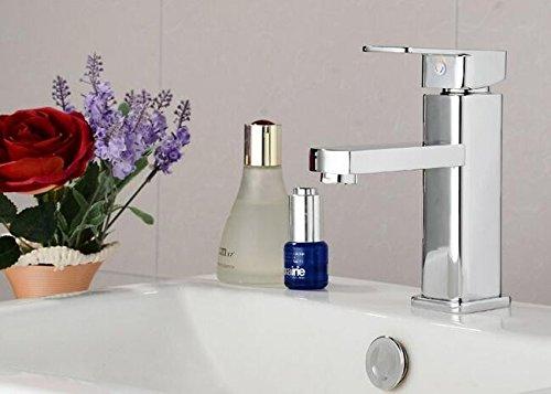 Mangeoo Alle Kupfer Einloch Waschbecken und Wasserhahn, WC, Badezimmer Schrank, heißen und kalten Wasserhahn, [Low] 60 cm Zuleitung Wc-zuleitung