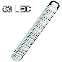 DP BALADEUSE DP LED-715 - Lampada portatile per illuminazione rampe, applique, ricaricabile, portatile, con 63 LED