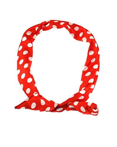 Zac's Alter Ego®, Haarband mit Punktmuster im Vintage-Stil, mit Draht verstärkt, Rot
