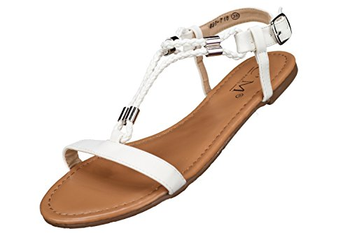 C M - Sandales Femme 839-718 White Blanc