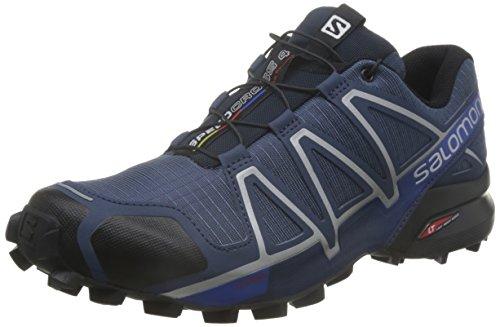 Salomon Speedcross 4, Scarpe da Trail Running Uomo, Blu (Slateblue/Black/Blue Yonder), 45 1/3 EU