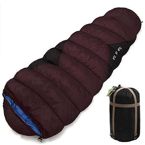 WODEPP Winterschlafsack Outdoor Erwachsene, Mumienschlafsack 1-2 Personen Expanded Ultraleicht, Schlafsack Für Indoor, Bergsteigen, Camping, Wandern, -8℃-8℃,Lila