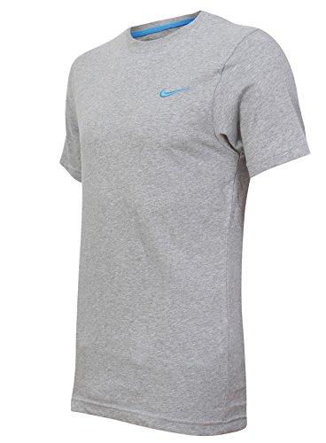 Nike Athletic Department Uomo Da Palestra Sportive Estivo Grigio T-Shirt a girocollo Maglietta - cotone, Grigio chiaro, 100% cotone 100% autentico, Uomo, Small