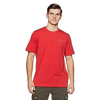 CC Left Chest Lockup Men's Short-Sleeve Shirt, Red / Steel (600), 2X-Large