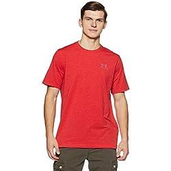 Under Armour Cc Left Chest Lockup, Camiseta para Hombre, Rojo (Red/Steel), XL