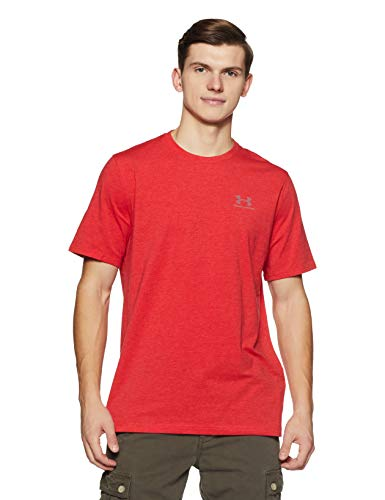 Under Armour Herren Fitness Cc Left Chest Lockup Kurzarm T-Shirt, Rot Red/Steel, M - Under Armour Trainings-shirt Herren