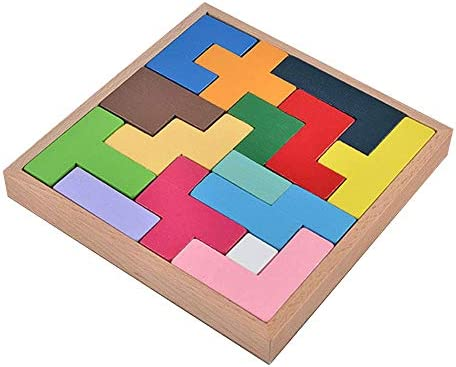 ISABELLE Jeu Puzzle Jeu Jeu Jeu Tetris en Bois Jeu de Construction Jouet d'Education et d'Imagination  s Multicolor | Paris  b93f6a