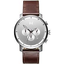 MVMT Watches Chrono Herren Uhr Silver/Brown Leather