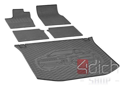 Passgenaue Kofferraumwanne und Gummifußmatten geeignet für Jeep Grand Cherokee ab 2014 - EIN Satz
