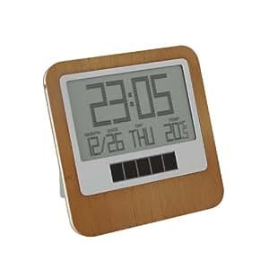 Clock horloge/réveil lCD safe emform lR118H de bambou