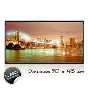 "TABLEAU LUMINEUX A LED ""NEW YORK"" 90x45 cm"