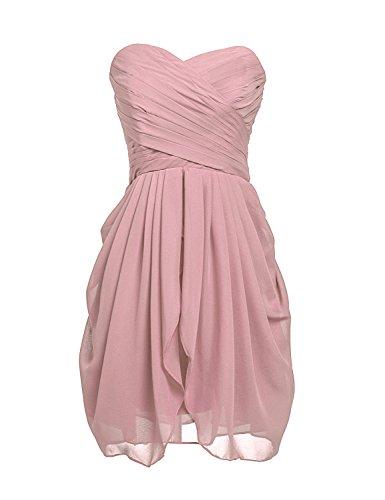 Clearbridal Damen Mini Chiffon Ballkleid Abendkleider Faltenrock Abschlussballkleider CSD247 Mauve...