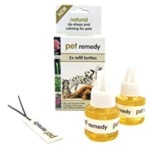 Pet Remedy is a natural de-stress and calming plug-in diffuser REFILLS ONLY for pets. Effective relief for dog stress, cat stress and other pet stress (Refills 2 X 40 ml))