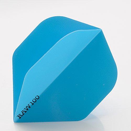 5-x-sets-raw100-extra-tough-neon-blue-dart-flights-standard-shape-100-micron-strong