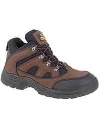 Amblers Steel , Chaussures de sécurité pour femme Marron marron