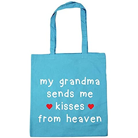 HippoWarehouse My Abuela sends me kisses de cielo Bolsa De Compras Gym Bolso De Playa 42cm x38cm, 10 litros