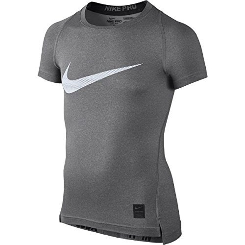 Nike Kinder Shirt Cool Compression Short Sleeve Top, Carbon Heather/Black, S, 726462-091 (Sleeve Short T-shirt Dri-fit)