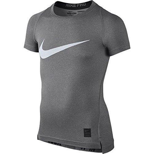 Nike Kinder Shirt Cool Compression Short Sleeve Top, Carbon Heather/Black, S, 726462-091 (Sleeve Dri-fit Short T-shirt)