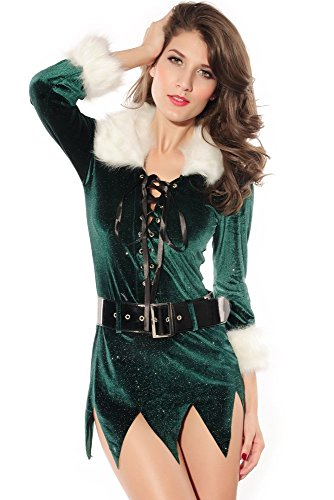 Pinkyee Damen Kostüm Gr. Einheitsgröße, grün