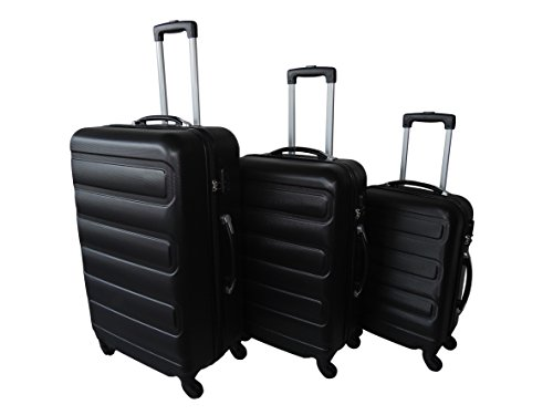 Trolleyset Baulua Kofferset 29L 57L 102L Gepäckset 2,6kg 3,3kg 3,7kg Reisekofferset Farbwahl (Schwarz)