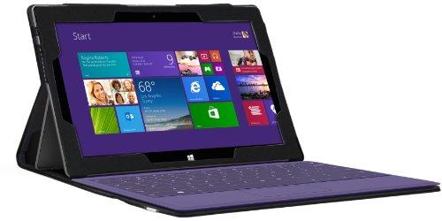 Foto Navitech Custodia/Cover Nera in Ecopelle per Microsoft Surface Pro 2 *non viene con la tastiera*