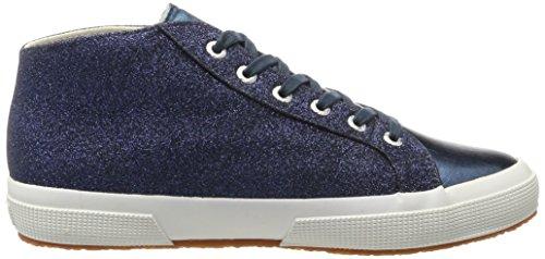 Superga Damen 2754 Microglittercotmetcoccow Sneaker Blau (Blue)