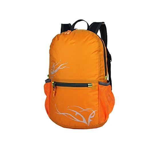 Zaino Xin.S15-20L Esterno Sacchetto Di Spalla Pieghevole Sport Borsa Da Viaggio Per L'alpinismo Borsa Impermeabile E Leggera Della Pelle Zaino Multifunzionale. Multicolore Green