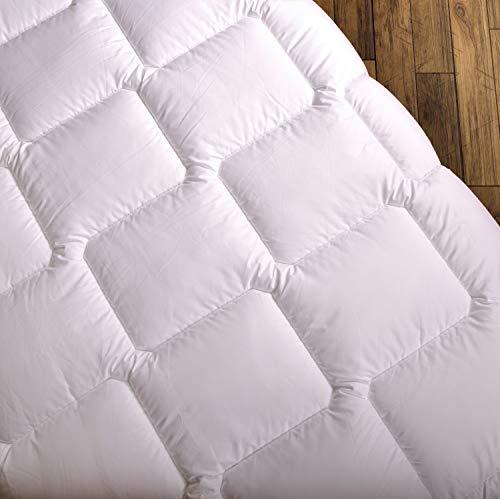 Wendre leichte Sommerdecke für die warme Jahreszeit   155x220 cm Bettdecke - Atmungsaktiv & Pflegeleicht   Weiche Steppdecke für den Sommer - Ideal für Allergiker   155 x 220 Sommerbettdecke
