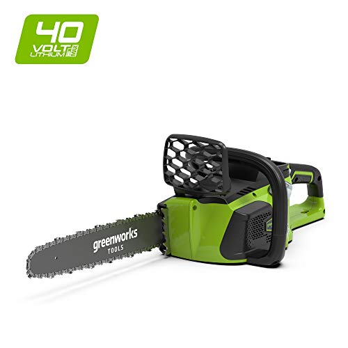 "Greenworks Tools 40V Cordless Brushless Chainsaw 40cm (16"") - Battery and charger not included - 20077"