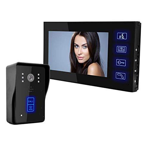 XHZNDZ 7 Pollici TFT-LCD da 2,4 GHz Senza Fili Videocitofono con Funzione di scattare Foto automaticamente, Allarme, Visione Notturna