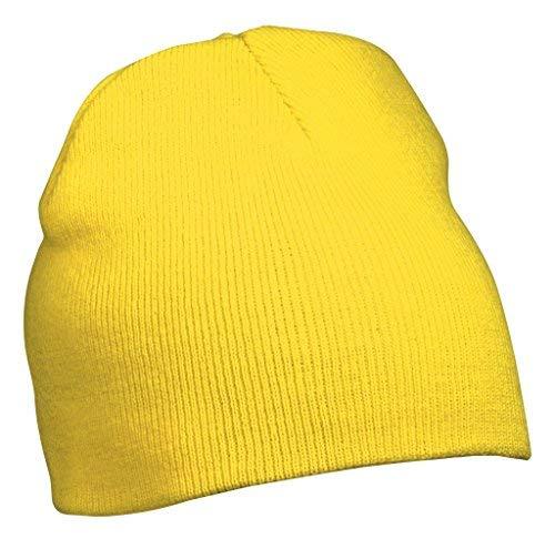 Myrtle Beach Strick Beanie Nr.1 MB7580, Farbe: gelb -