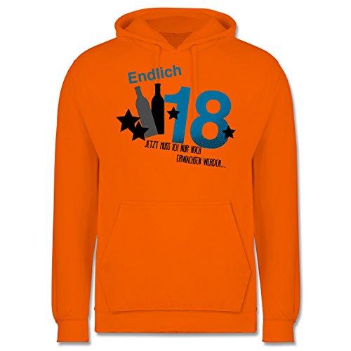 Geburtstag - Endlich 18_Blau - Männer Premium Kapuzenpullover / Hoodie Orange