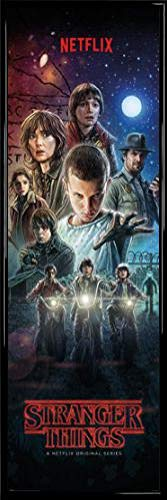 Stranger Things Póster Puerta Marco Plástico - Póster
