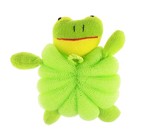 bebe-ninas-ninos-adorable-bano-animal-bano-estropajo-esponja