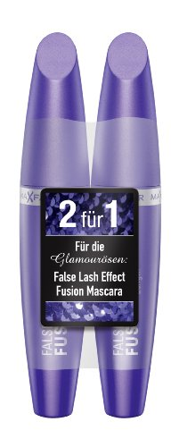 Max Factor False Lash Effect Fusion Mascara black plus 1 gratis, 1er Pack (1 x 13 ml) -