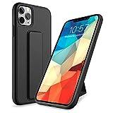 Yokata Cover per iPhone 11 PRO Max, Custodia Silicone con Supporto Cavalletto Morbido Ultra Sottile Slim Bumper Case AntiGraffio Antiurto 360 Gradi Protettiva Caso Cover - Nero