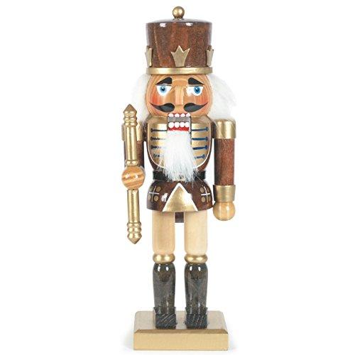Nussknacker Soldat, H: 25 cm, braun, handbemalt im Erzgebirgestil