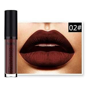 Generic Deep Red Matte Lipstick Dark Blue Purple Burgundy Vampire Lipsticks Long Lasting Waterproof Comestic